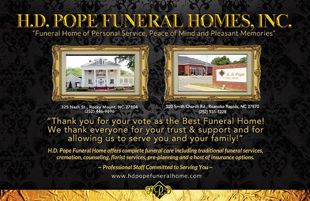 Roanoke Rapids Rocky Mount Nc Funeral Home Cremation H D